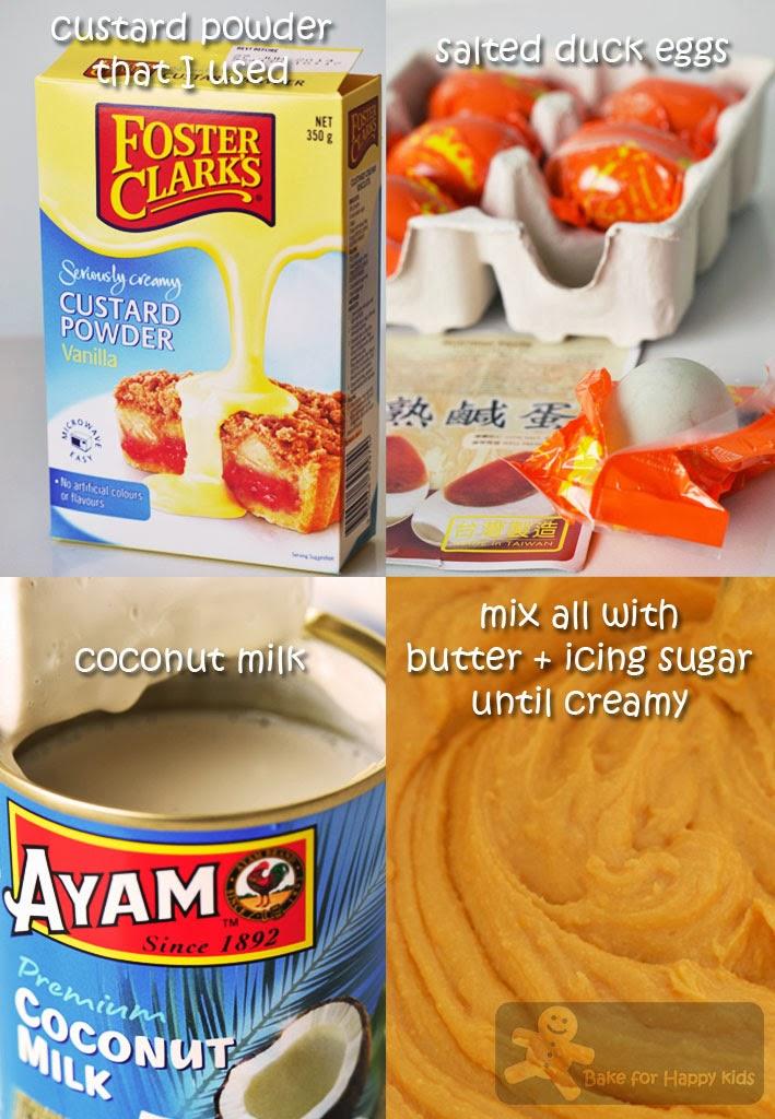 Bake for Happy Kids: Liu Sha Bao / Chinese Molten Salted Egg Custard