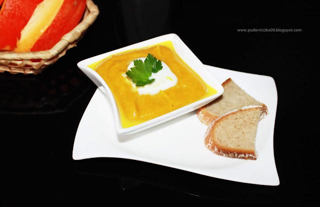 Zupa - krem z dyni na ostro