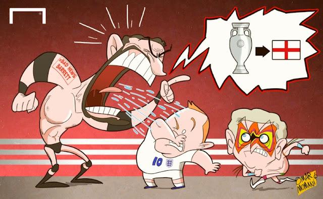 'Bad News' Barrett, Rooney and Hodgson cartoon