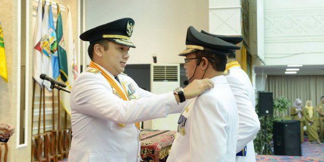 M Ridho Ficardo Gubernur Lampung Lantik Bupati Lampura