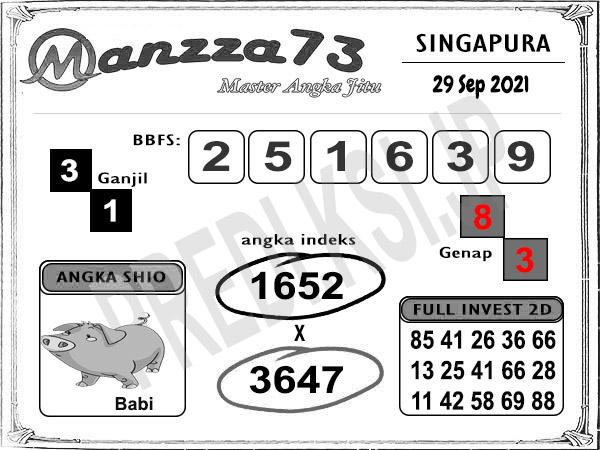 Manzza73 SGP Rabu