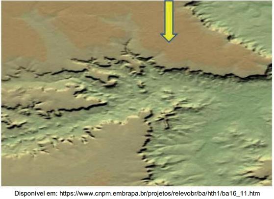 As imagens SRTM, como a reproduzida na figura a seguir, são um bom exemplo dessas tecnologias