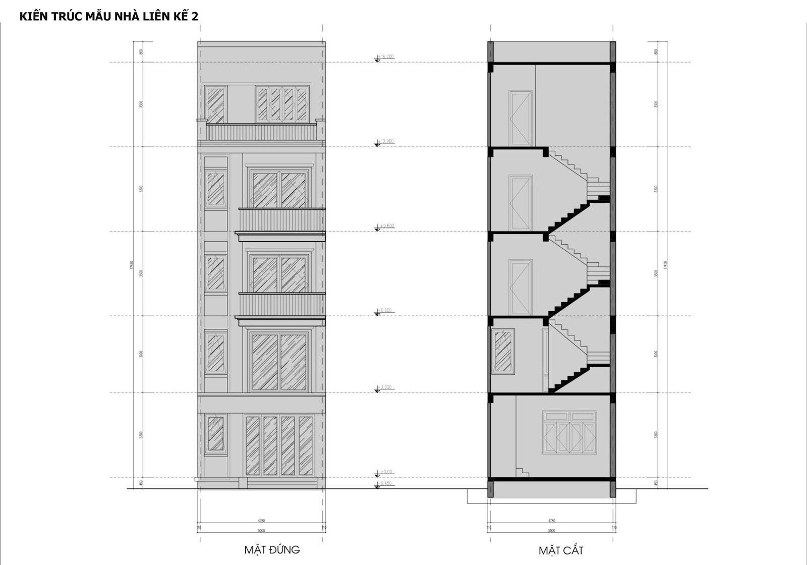 Mẫu liền kề thấp tầng - Dự án Hateco 3 và Hateco 5 Xuân Phương
