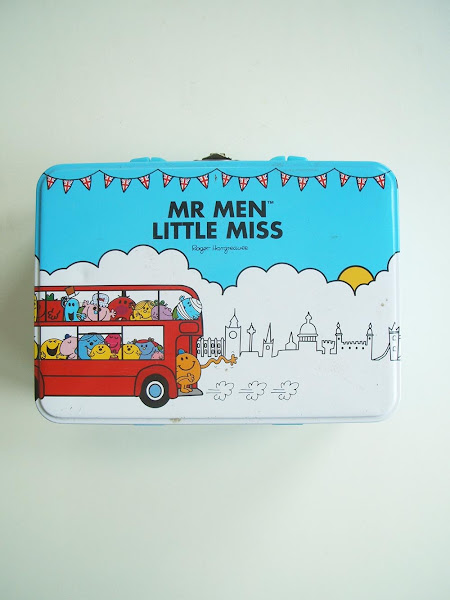 using a mr men tin to store my seed packets