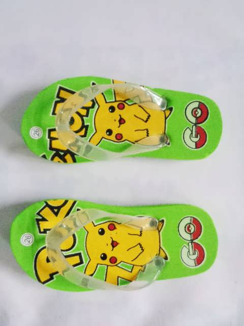Sandal Karakter Pokemon Anak hijau