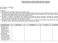 Silabus Sistem Operasi Jaringan Kelas XII SMK