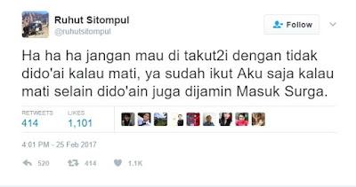 Status Twitter Ruhut Sitompul