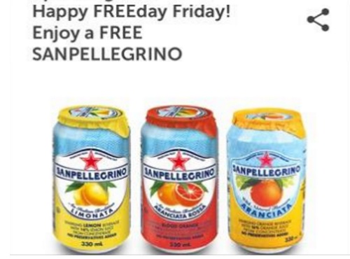 7Rewards Free San Pellegrino Beverage