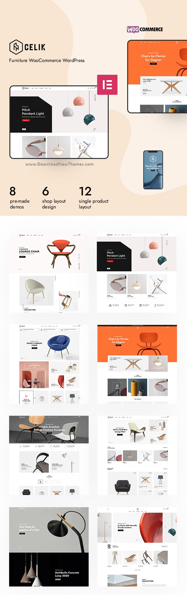 Celik - Furniture WooCommerce Theme