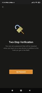 Two-Step Verification on Telegram