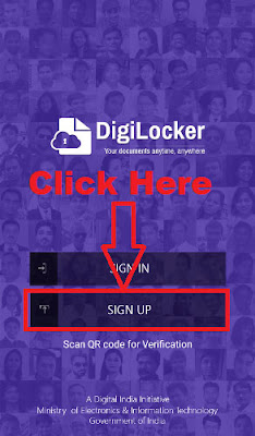 how to create digilocker account through mobile