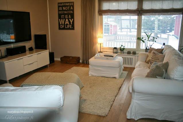 olohuone sisustus vuonna 2014  ektorp sohva livingroom vaalea