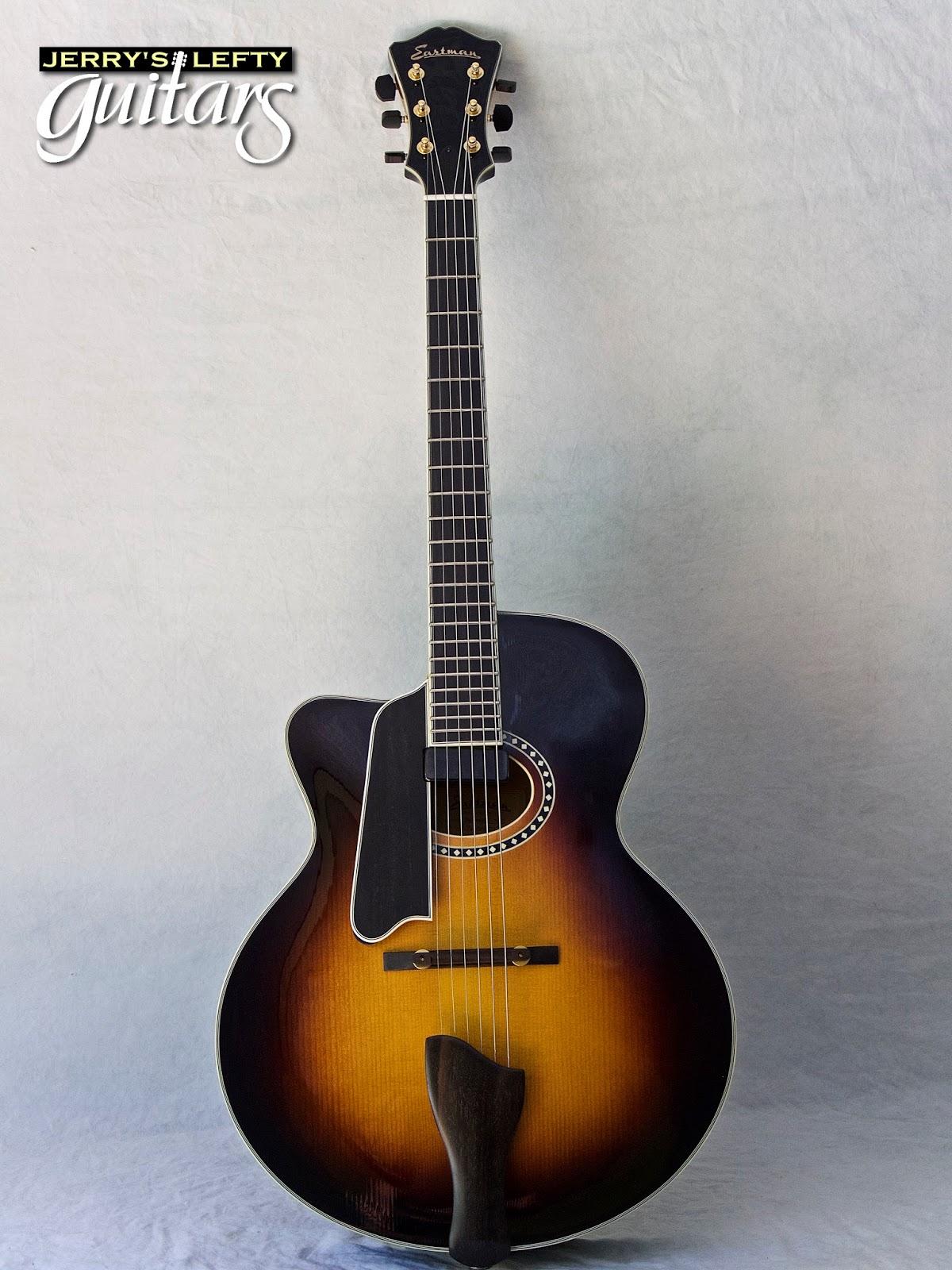jerry 39 s lefty guitars newest guitar arrivals updated weekly eastman ar804ce sunburst left. Black Bedroom Furniture Sets. Home Design Ideas