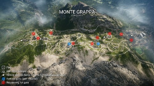 Monte Grappa Battlefield 1 Flak Locations