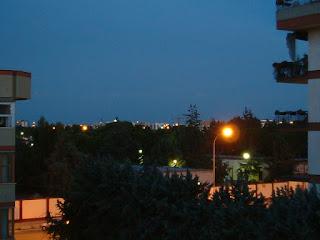 Panorama balcone serale