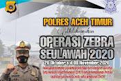 Operasi Zebra Seulawah 2020 Dimulai, Ini Himbauan Kapolres Aceh Timur