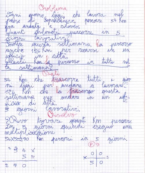 didattica matematica scuola primaria: Problemi con due ...