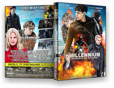 CAPA DVD – Millennium – A Garota na Teia de Aranha -2019 – ISO