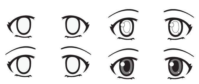 mata anime terkejut