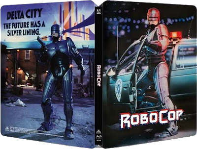 Arrow Video's ROBOCOP Steelbook cover art!