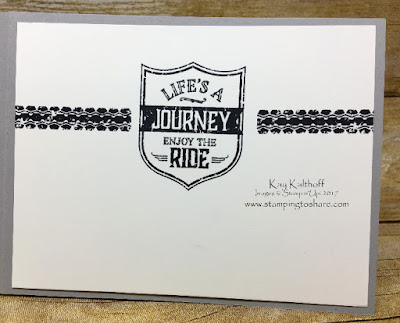 Masculine Card with One Wild Ride, Stampin' Up!, Kay Kalthoff is Stamping to Share