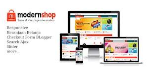 Modelo de Blogger responsivo para loja moderna