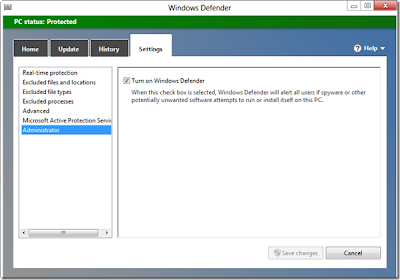cara mematikan windows defender di windows 8