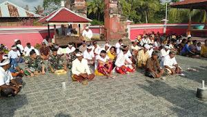 Kegiatan Ibadah Hari Raya Saraswati Bagi Personel Satgas Raider Beragama Hindu