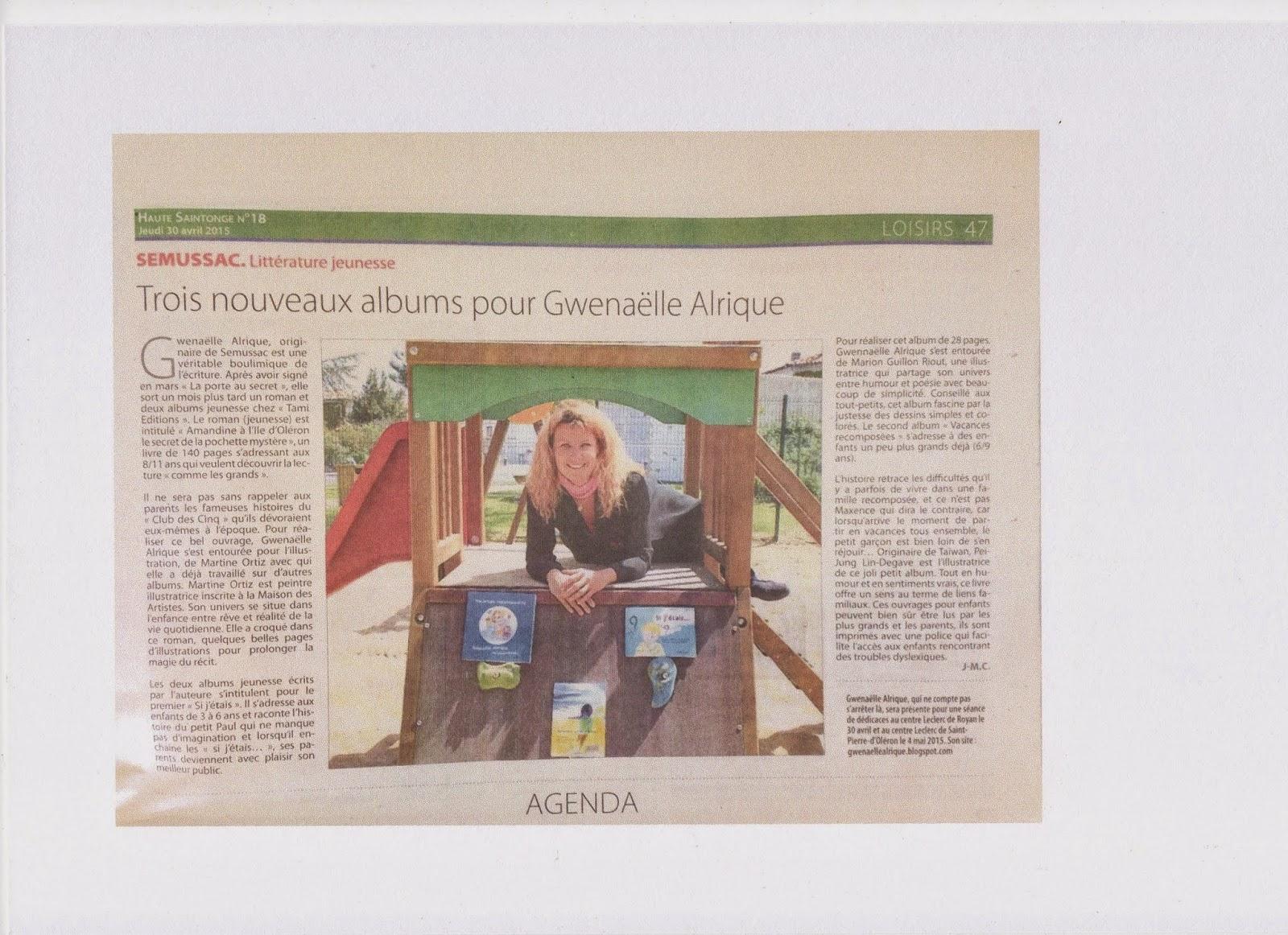 59b0fc7ad10 Voici un article paru le 30 avril sur le journal Haute-Saintonge... un  autre quasi-similaire a été publié sur Sud-Ouest une semaine plus tard mais  moins ...