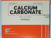 Calcium Carbonate - Kegunaan, Dosis, Efek Samping