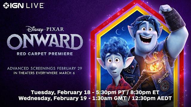 Pixar Onward Red Carpet Live Stream Premiere