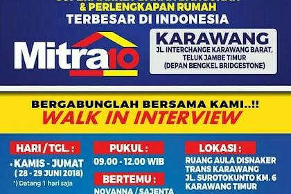 Info Lowongan Kerja Mitra 10 Juni 2018 Karawang