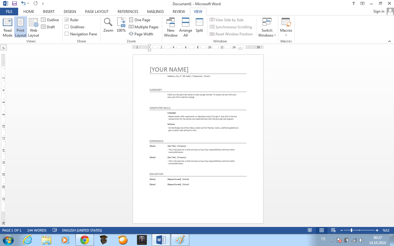 Free Quick Resume Builder. Covre Letter