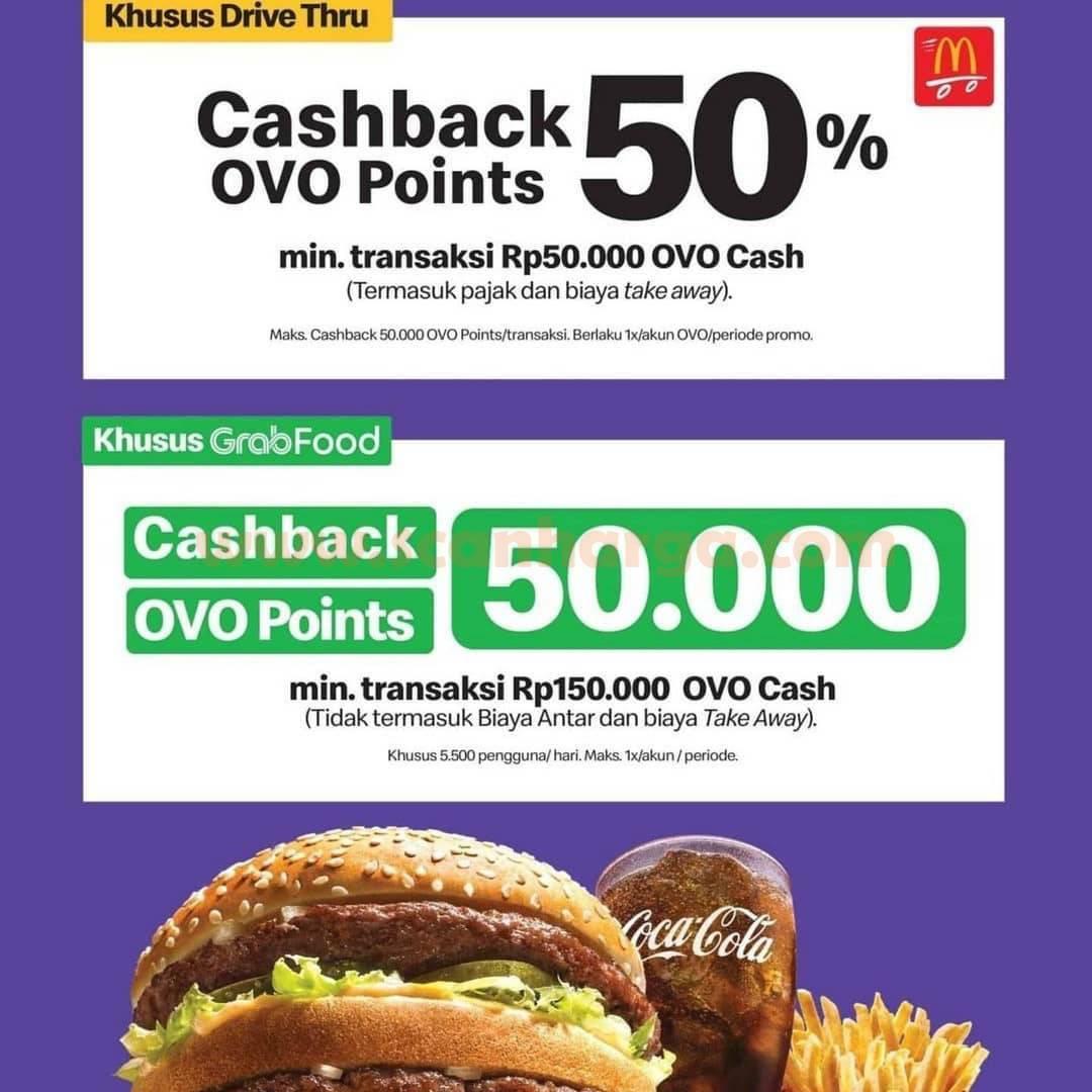 Promo McDonalds Cashback OVO 50% Khusus Grabfood & Drive Thru 2