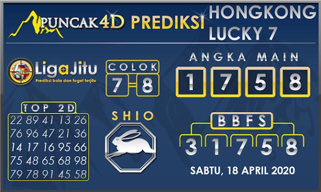 PREDIKSI TOGEL HONGKONG LUCKY7 PUNCAK4D 18 APRIL 2020