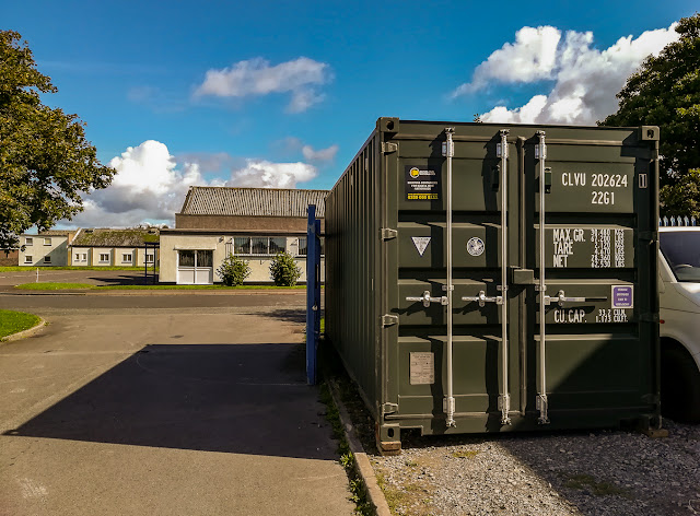 Photo of our new storage container