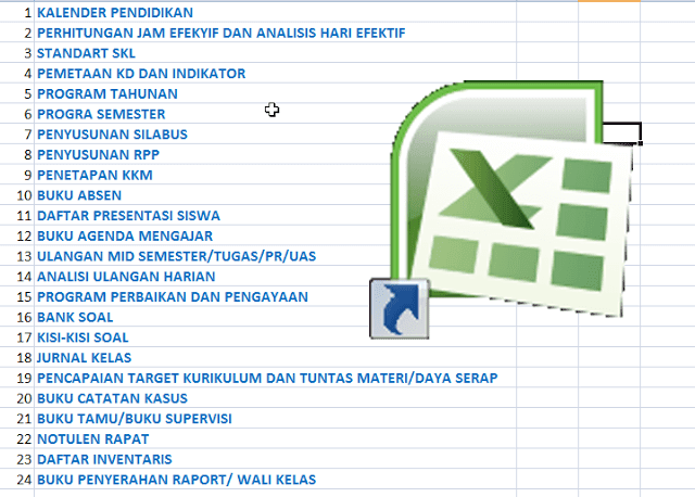 24 Administrasi Guru SD Kurikulum 2013 dalam 1 Aplikasi