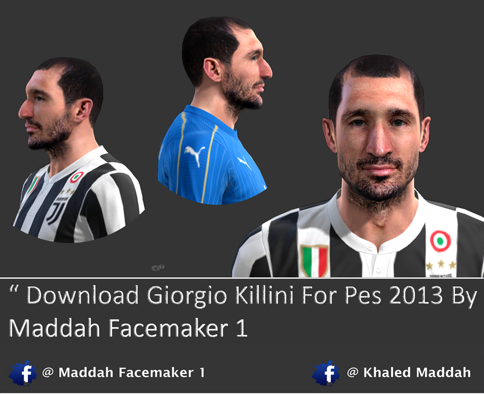Face chiellini For Pes 2013 By Maddah Facemaker 1
