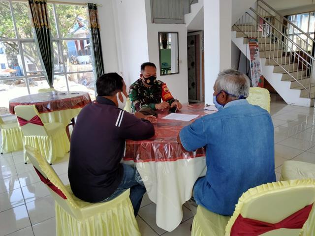 Jalin Silaturahmi, Personel Jajaran Kodim 0207/Simalungun Laksanakan Komsos Bersama Dengan Tokoh Masyarakat