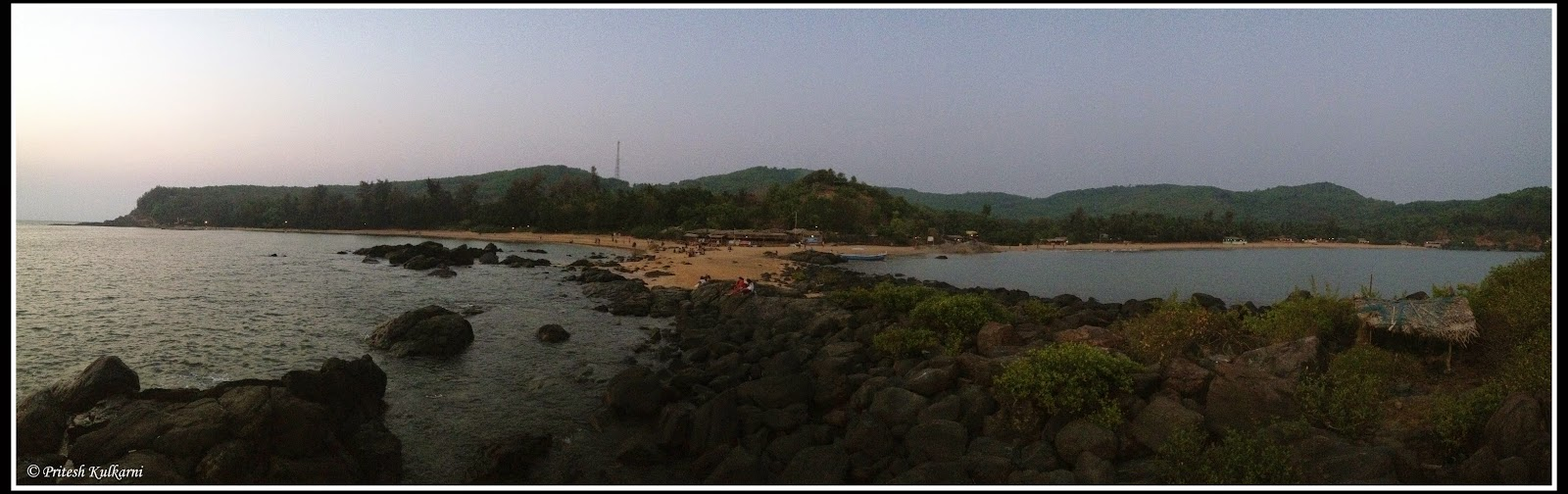 Panorama view of Om beach