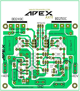 PCB Layout Power Amplifire APEX AX 11