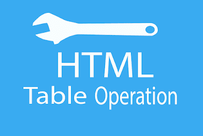 HTML Table Operation
