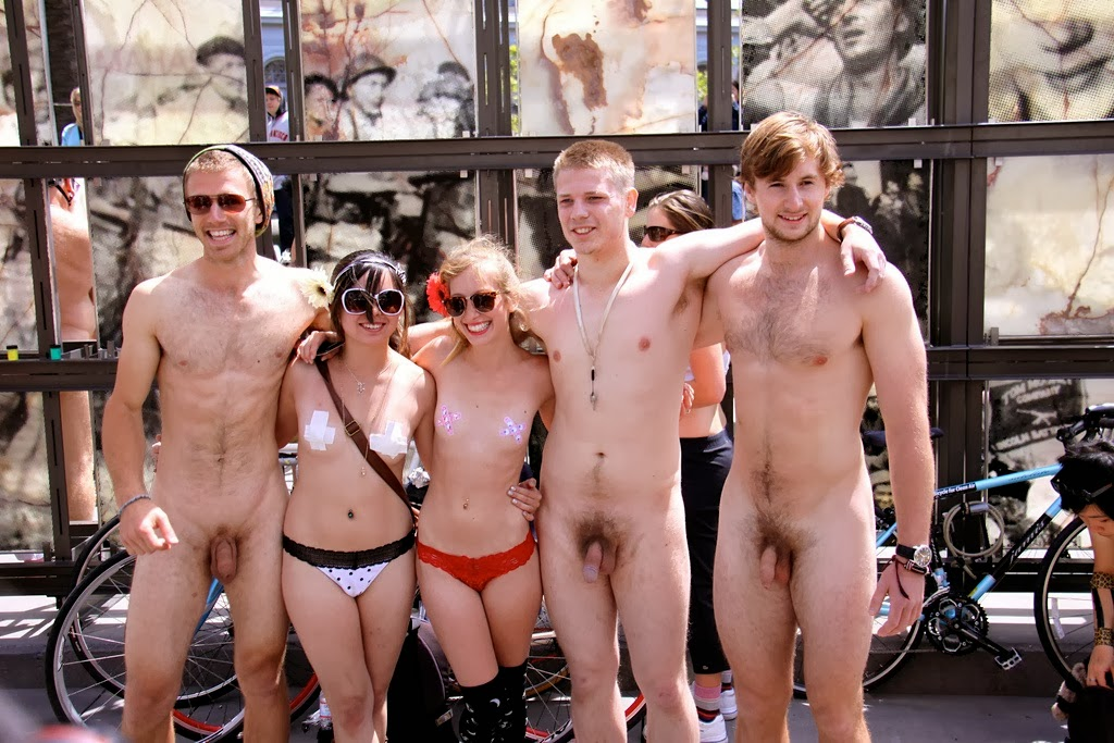 Political Candidate Campaigns Nude In New York's Times Square