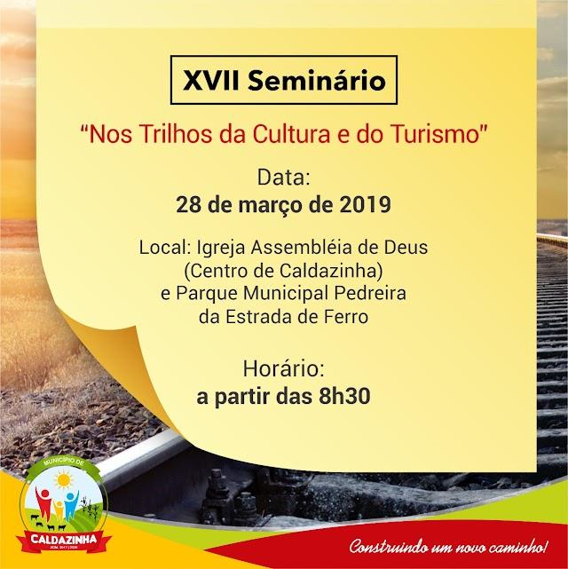 Prefeitura de Caldazinha realiza seminário sobre cultura e turismo da região