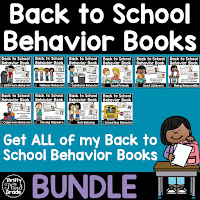 Students will learn behavior expectations and rountines with these back to school mini books.