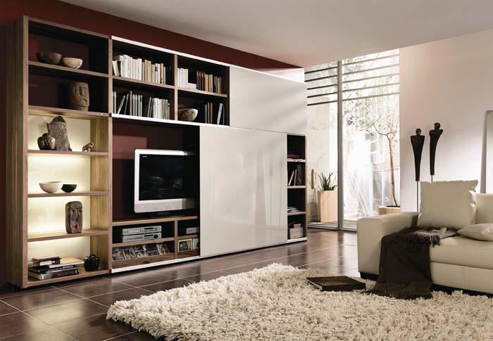 Drawing Room Furniture Design Ideas: Modern Living Room Furniture Cabinet Designs.
