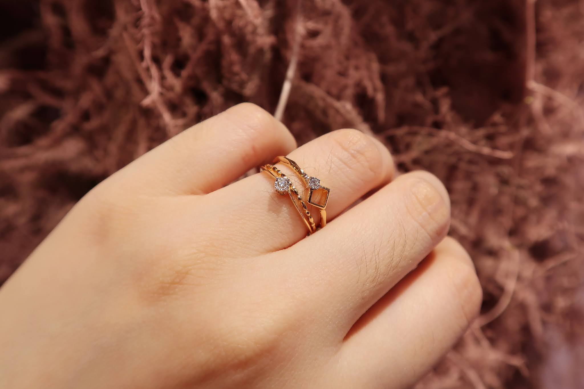 MOELA COLLECTION CINCIN EMAS BERLIAN TUMPUK