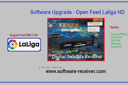 Software Upgrade Venus Inova Star HD GX6605S - Open RTM SPORT