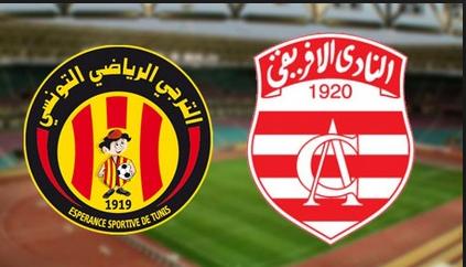 EST TUNISIE VS CLUB AFRICAIN  LIVE HD