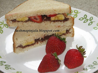 Nutella and Fruit Sandwiches